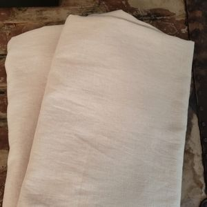 Linen Cotton Tab Curtains Set of 2
